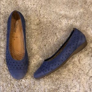 Gabor Hovercraft Suede Leather Perforated Flats